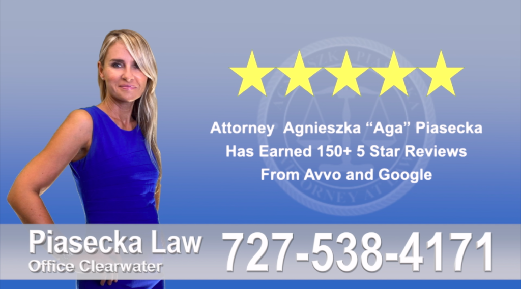 Immigration Attorney Clearwater Polish Agnieszka, Aga, Piasecka, Client, reviews, avvo, google, 5-star, superb, best attorney