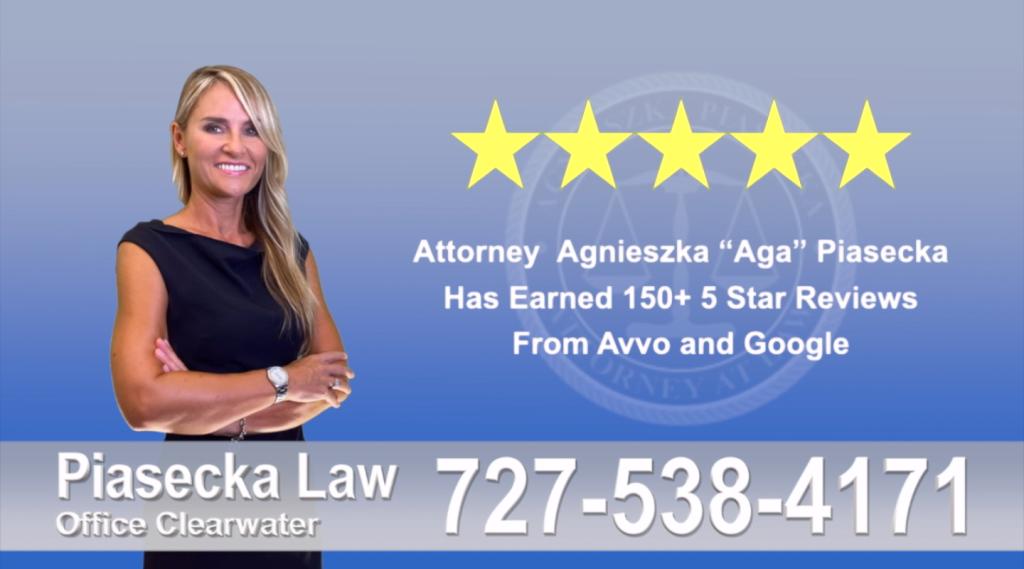 Immigration Attorney Clearwater Polish Agnieszka, Aga, Piasecka, Client, reviews, avvo, google, five star, 5-star