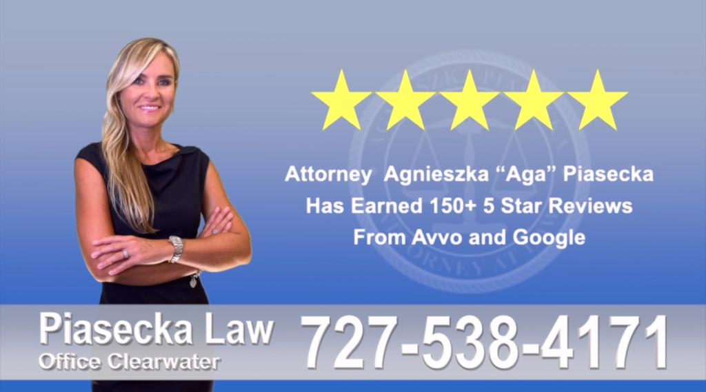 Immigration Attorney Clearwater Polish Agnieszka, Aga, Piasecka, Client, reviews, avvo google, five star, 5-star, superb best attorney