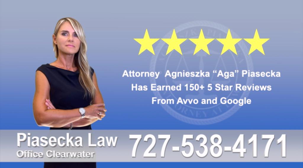 Immigration Attorney Clearwater Polish Agnieszka, Aga, Piasecka, Client, reviews, avvo, google, five star 5-star, superb, best attorney