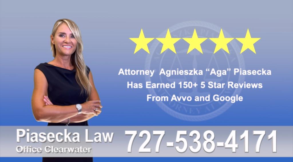 Immigration Attorney Clearwater Polish Agnieszka, Aga, Piasecka, Client, reviews, avvo, google, five star, 5-star, superb best attorney